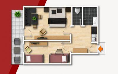 Grundriss Familienzimmer-40qm
